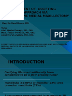 Masyita Menagement of Ossifying Fibroma Approach via Maksillectomy Medial Endoscopic