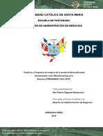 Analisis y Propuesta de Mejora de La Productividad Utilizando Herramientas Lean Manufacturing en La Empresa Prensmart Sac 2015