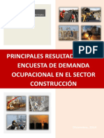 Principlaes Resultados de La Encuesta de Demanda Ocupacional en El Sector Construccion - Ministerio (Ur)