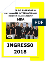 01 - Medicina Na Argentina - Ingresso 2018