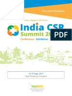 India CSR Summit & Exhibition 2017-PreEvent Brochure