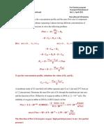 Transport Phenomena Quiz 2 Solution