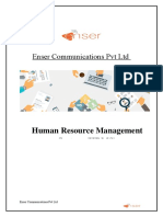 Enser Communications Pvt Ltd HRMS
