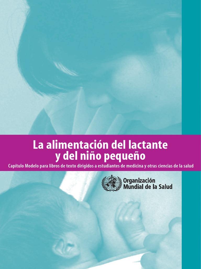 la alimentacion del lactante y del niño pequeño oms pdf