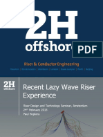 2015 OPT Recent Lazy Wave Riser Experience
