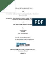 Area Officers and Dealers Satisfaction Survey of Mahindra & Mahindra Ltd