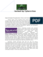 Yahoo Hacked by Cybercrime