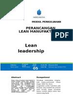 Modul Perancangan Lean Manufacturing [TM5] Lean Leadership