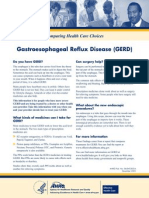 Gastroesophageal Reflux Disease (GERD) Consumer Guide