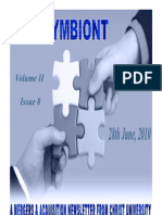 Symbiont -A Newsletter on Mergers & Acquisitions by Christ University- June 2010