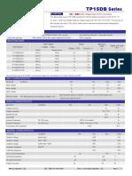 TP15DB    15W 1.5KVDC Wide Voltage Input DC/DC Converters
