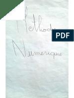 Cours Methodes Numerique