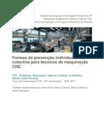 Prevenção Individual e Coletiva-Maquinação e Programação CNC