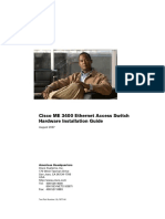 Cisco ME 3400 Ethernet Access Switch Hardware Installation Guide 3400hig