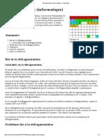 Défragmentation (informatique) — Wikipédia