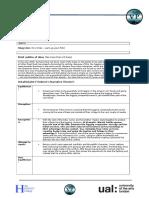 film planning sheet