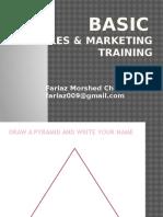 Basic Sales & Marketing Training - Fariaz