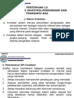 Audit siklus investasi dan pembiayaan pertemuan 13