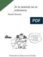 Heinrich Haydee - Cuando La Neurosis No Es de Tra