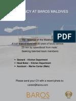 Job Vacancy - Steward - Assistant - Head Baker