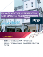 Management of Hypertention and Diabetes Melitus Tayangan