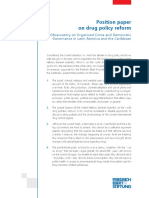22 Position Paper on Drug Policy Reform by the Observatory on Organized Crime and Democratic