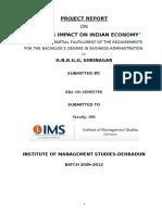 Fdi & Its Impact on Indian Economy