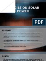 Policies on Solar Power