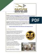 Fast Fix | Franquicia de Joyeria y Reparacion de Relojes
