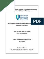 test design specification
