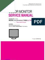 Lg Flatron l1740 l1940 Service Manual