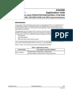 CCM Memoria Stm32f4 | Library (Computing) | Random Access Memory