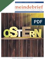 Gemeindebrief 2017 04 Frühjahr - 20. Ausgabe