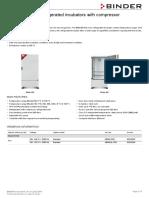 Data Sheet Model KB 400 Us