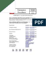 Emergency Procedures Booklet 16-17