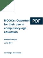 Opportunities for MOOCs