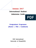 (Autumn 2017)UOU International Student Admission Guide_Postgraduate