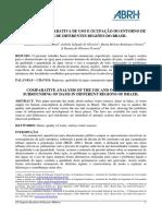 análise comparativa de uso e ocupação do entorno de represas de diferentes regiões do brasil