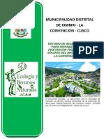 Estudio de Seleccion de Sitio Kimbiri - Cusco