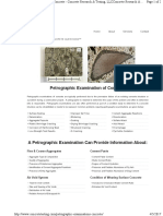 Petrographic Examinations Concrete