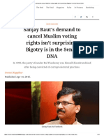 Sanjay Raut's Demand to Cancel Muslim Voting Rights Isn't Surprising_ Bigotry is in the Sena's DNA