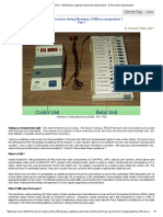How Can Electronic Voting Machines (EVM) Be Manipulated - Part 1