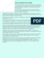 Contaminación Amenaza Acuífero de Yucatán
