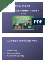 CSTR in Series Reactor