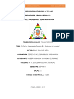 Trabajo Presentado Por Wilber Robinson Saavedra Gutierrez-semestre Septimo-tema - De Los Sistemas Dominio Del Autor Elvis Salazar Niño- Para El Curso de Derecho de Los Pueblos Originarios