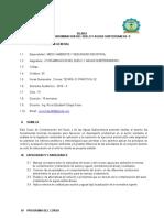 SILABO Cont. Del Suelo y Aguas Subterráneas II