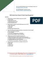 PMP Chapter 5 Test Project Scope Management