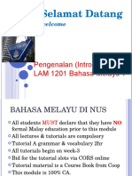 Kuliah 1 Intro to Malay