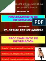 SESION N° 06 - PROCESAMIENTO DE INFORMACION