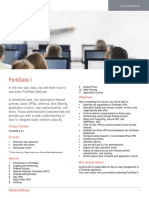 FortiGate I Course Description-Online
